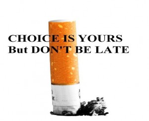 say No to smoking and stay healthy